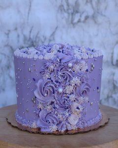 Pretty Purple Sparkle Cake