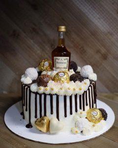 Hennessy and Ferraro Roche cake