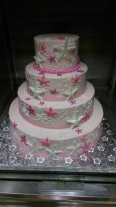 Pink starfish cake
