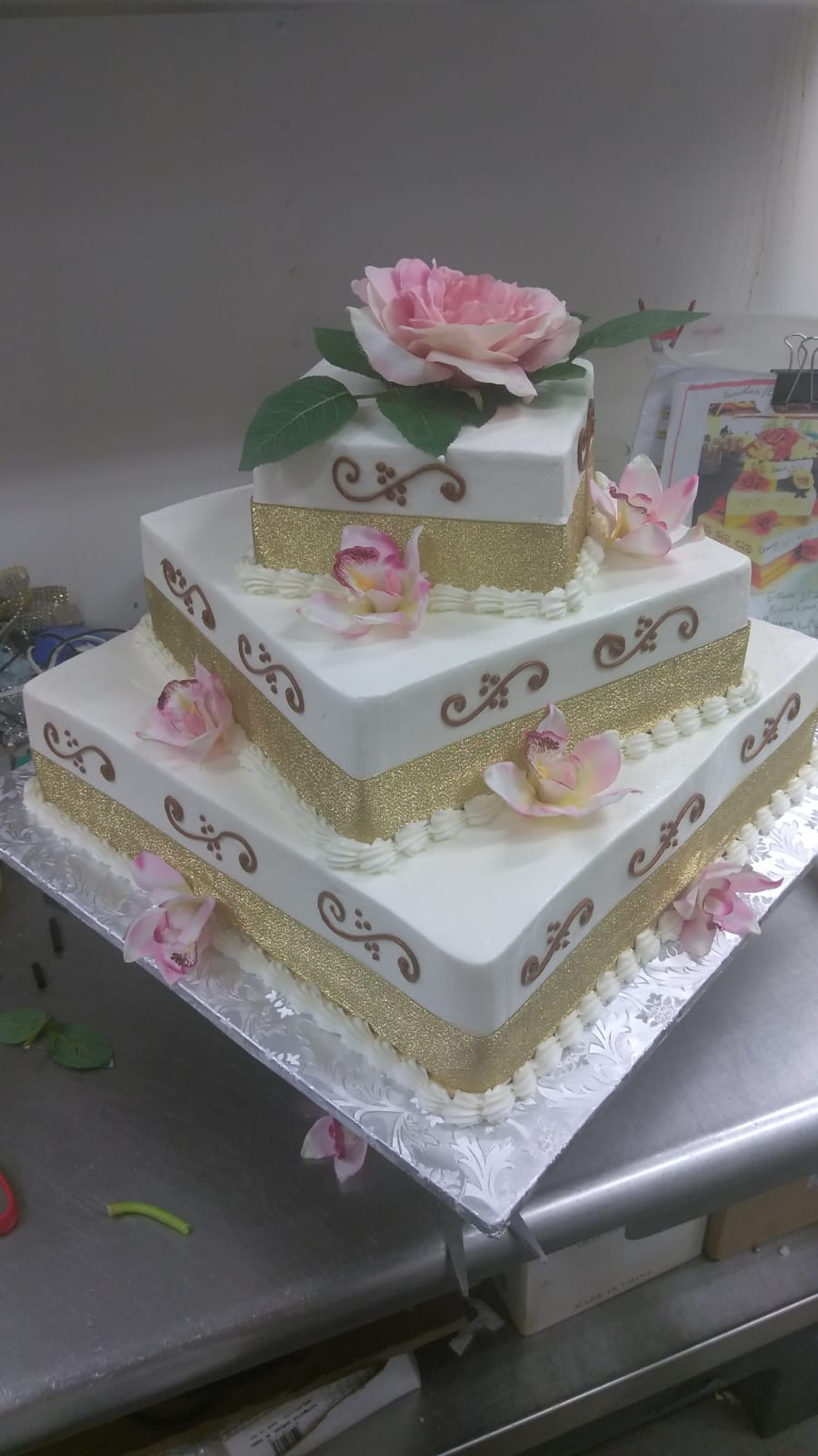 Offset square cake
